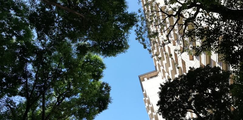 5月広尾ヒルズ・空と建物ヨコ